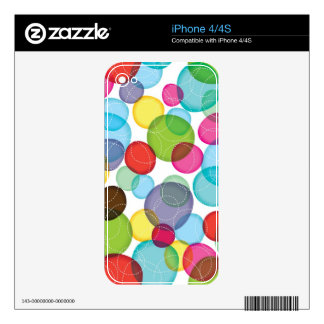 Round bubbles kids pattern 2 decals for iPhone 4