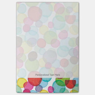 Round bubbles kids pattern 2 post-it® notes