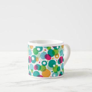 Round bubbles kids pattern espresso cup