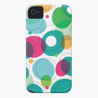 Round Bubbles Kids Pattern iPhone 4 Case