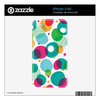 Round bubbles kids pattern skin for the iPhone 4