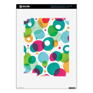 Round bubbles kids pattern decal for iPad 3