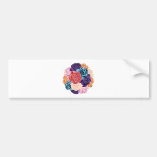 Round Bunch of Roses2 Bumper Sticker