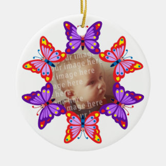 Round Butterfly Photo Frame Ornament