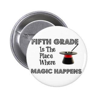 Round Button 2¼ Inch FifthGradeMagic