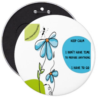 Round Button Ant Keep Calm