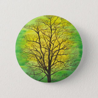 Round Button - Green Tree