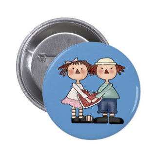 Round Button - Raggedy Ann and Andy Button