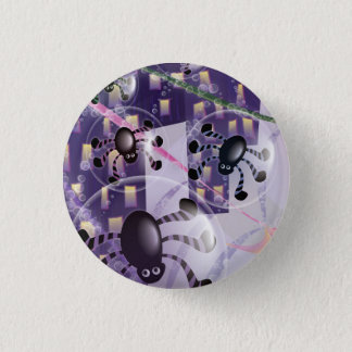 Round Button - Spiders & City Vector Design