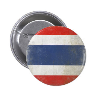 Round Button with Distressed Thailand Flag