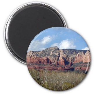 round button with photo of Arizona red rocks Magnet
