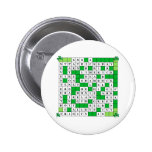 Round Button with St Patrick's Day Crossword
