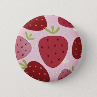 Round button with Strawberries