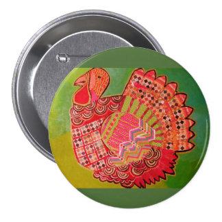 Round Button with Wild Turkey