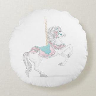 Round Carousel Horse Pillow Round Pillow