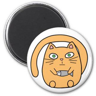Round cat 2 inch round magnet