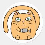 Round cat classic round sticker