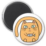 Round cat magnet