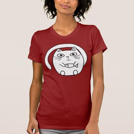 Round cat t-shirt