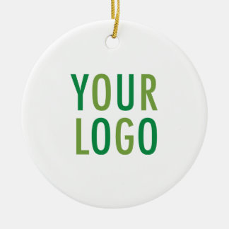 Round Ceramic Custom Ornament with Logo No Minimum