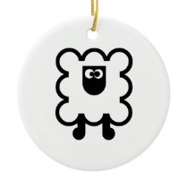 Round ceramics SHEEP ornament