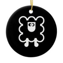 Round ceramics SHEEP ornament