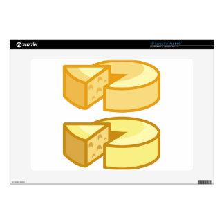 Round cheese laptop decals