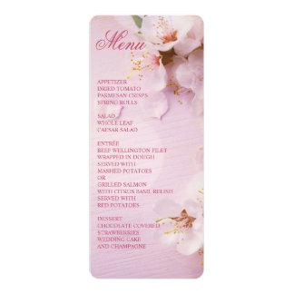 Round Cherry Blossom Elegant Wedding Menu Card