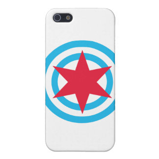 Round Chicago Flag Case For iPhone SE/5/5s
