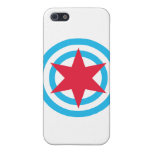 Round Chicago Flag Cover For iPhone 5