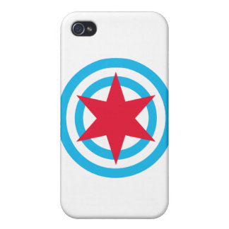 Round Chicago Flag iPhone 4 Cover
