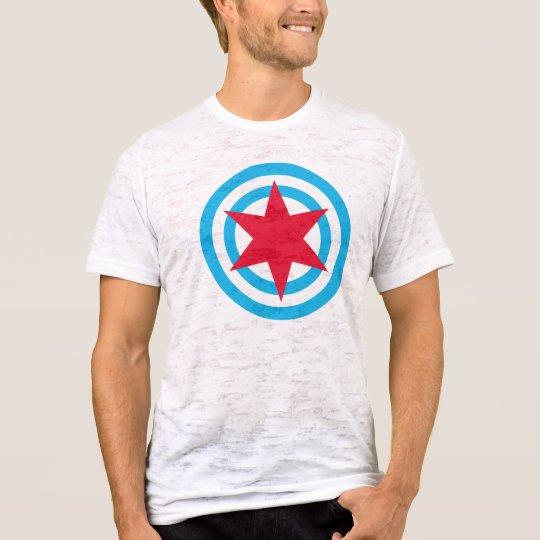 Round Chicago Flag T-Shirt