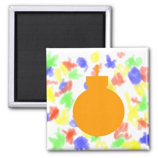 round christmas ornament orange.png fridge magnet