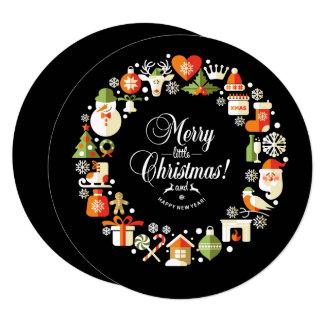 Round Christmas Symbols Card