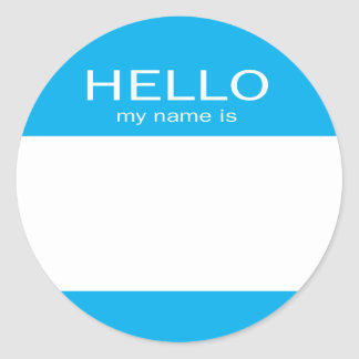 hello my name is stickers zazzle. Black Bedroom Furniture Sets. Home Design Ideas