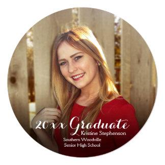 Round Circle Photo Shading Custom Graduation Card