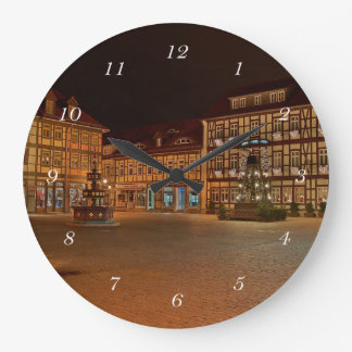 Round clock market place who Niger ode at night