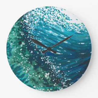 Round Coastal Wave Clock by Margaret Juul