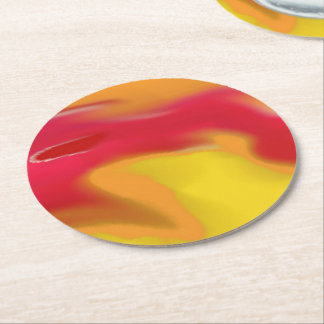 Round Coaster Marble 5 Art Design Set