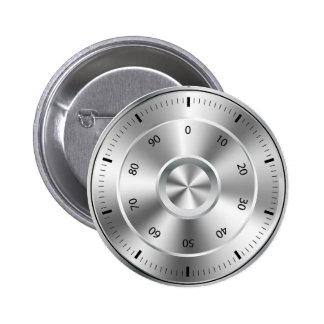 Round Combination Lock Pinback Button