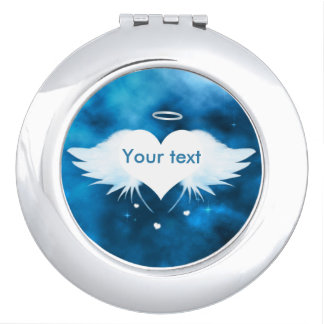 Round Compact Mirror - Angel of the Heart