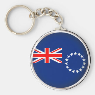 Round Cook Islands Basic Round Button Keychain
