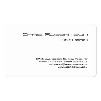 Round Corner Black White Charming Business Card Pack Of Standard Business Cards
