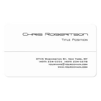 Round Corner Black White Charming Business Card