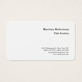 Round Corner Minimalist Charming Modern Business Card