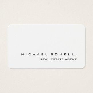 Round Corner White Real Estate Agent Business Card