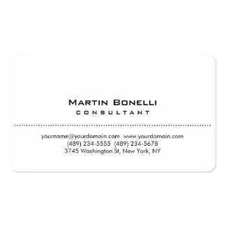 Round Corner White Simple Consultant Business Card
