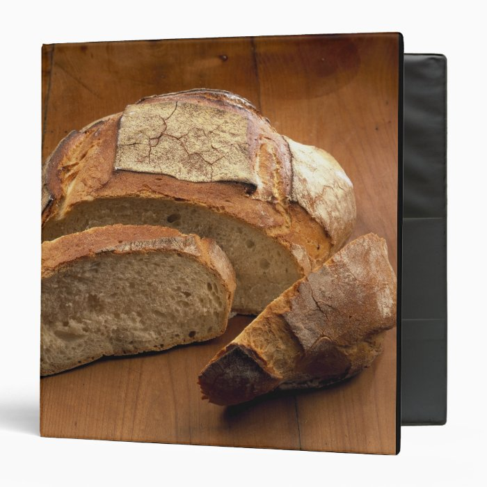 Round country-style bread cut in slices For 3 Ring Binder