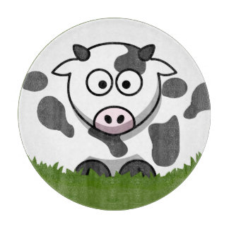 Round Cow Cutting Board