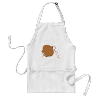 Round Cowbell Abstract Graphic Image Apron